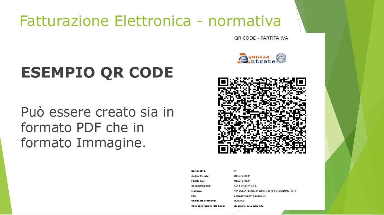 qr code fattura elettronica